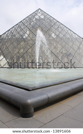 Louvre - Pyramid and fountain