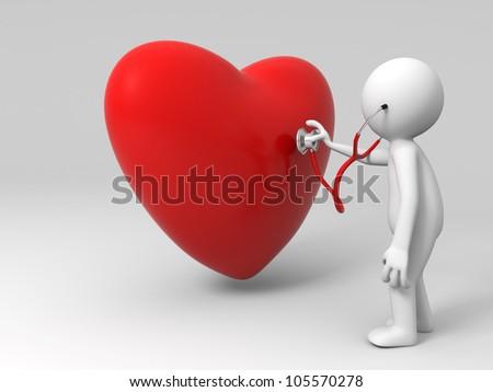 love/A person are diagnosing the heart