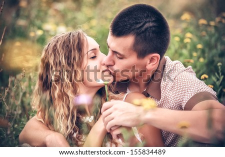 Love and affection between a young couple #155834489