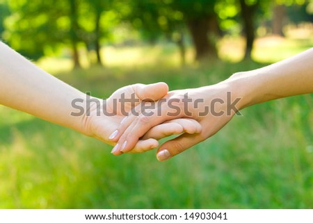 love and friendship concepts - two hands