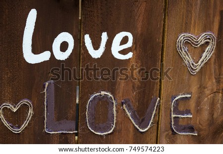 Love and hearts, love background #749574223