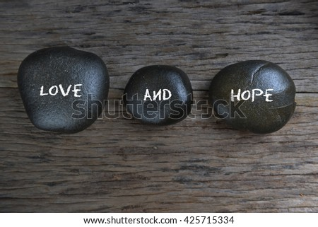 Love And Hope word #425715334