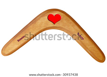 Love Boomerang perfect for valentines Australian Cupid