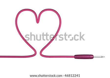 love cable jack plug