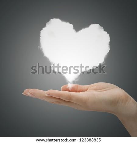 love cloud in hand