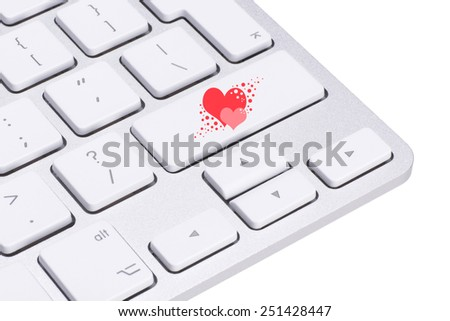 Love concept, Love key on the computer keyboard