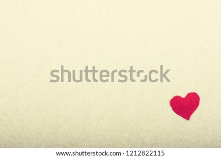 Love concept with a red heart shaped paper in view #1212822115
