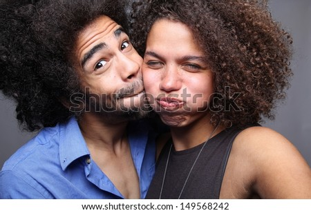 Love couple in a Photo booth