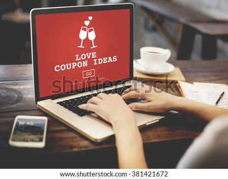 Love Coupon Ideas Gift Romance Valentines Concept