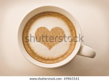 stockphoto:lovecup,heartdrawingonlatteartcoffee