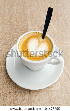 Love Cup of Coffee, as Heart.