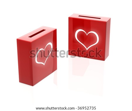 love donation boxes