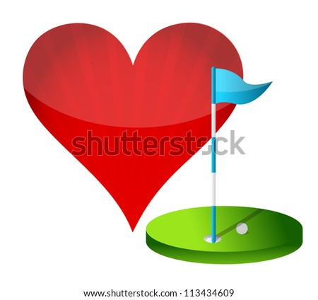 love golf concept illustration design over white