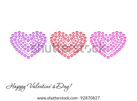 Love, greeting card for Valentine's Day