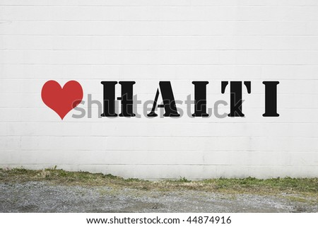 Love Haiti Graffiti on Wall