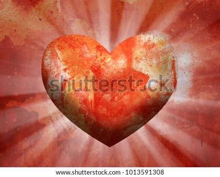 Love Heart Background #1013591308