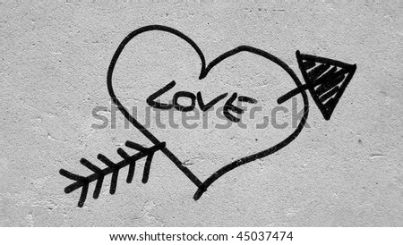 black and white photography love heart. stock photo : Love heart