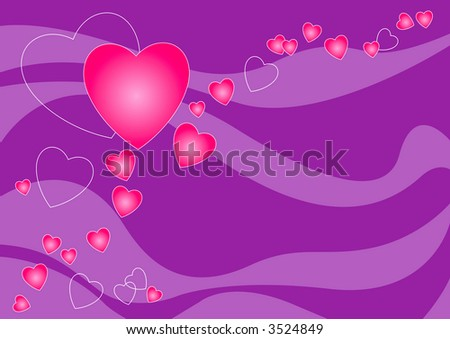 purple love heart background. stock photo : Love heart of
