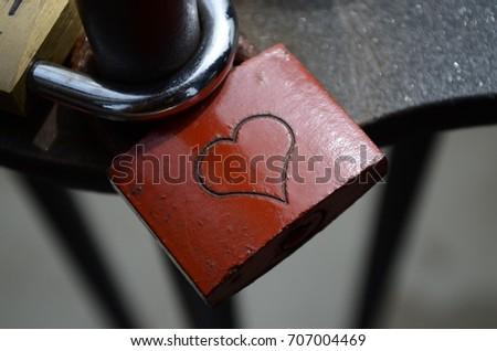 Love Heart Padlock #707004469