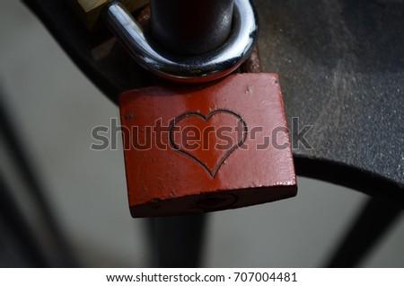 Love Heart Padlock #707004481