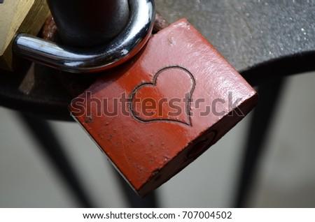 Love Heart Padlock #707004502