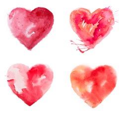 Love heart paint watercolour