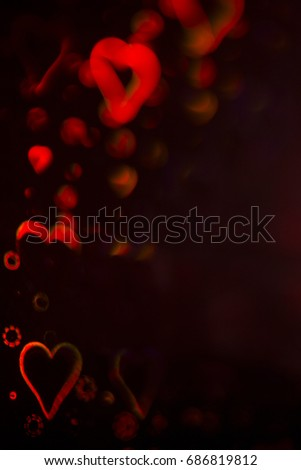 Love hearts abstract romantic symbol representing romance and loving couples for Valentine's day #686819812