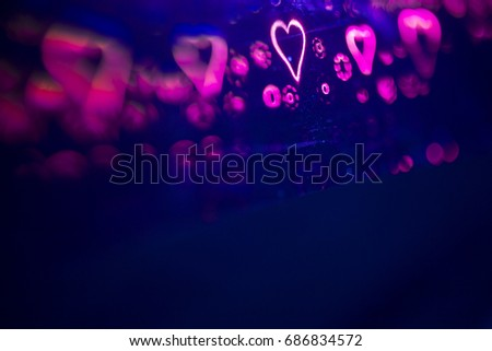 Love hearts abstract romantic symbol representing romance and loving couples for Valentine's day #686834572