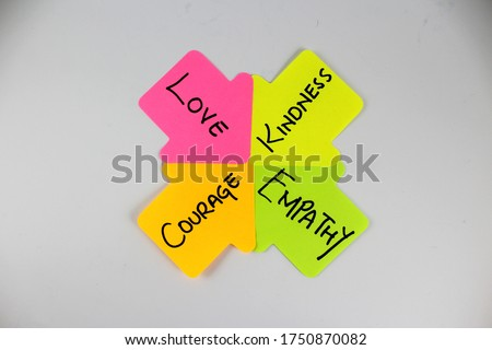 Love Kindness Courage Empathy Moral Virtues Background Сток-фото ©