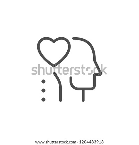 Love line icon isolated on white