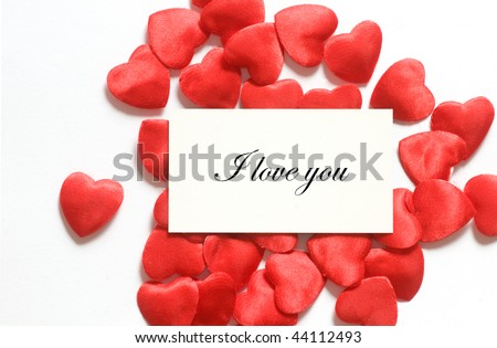 Love message surrounded by little hearts. Easy editable for your own text. Composition for themes like love, valentine's day, holidays.