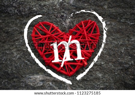 Love of money. USA Mill symbol on a red heart. Love theme #1123275185