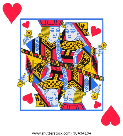 Love of playing cards. love of queen and jolly.