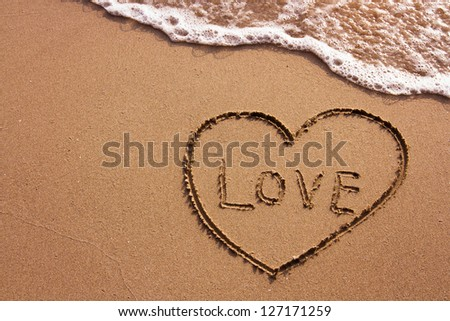 love on the beach, abstract photo