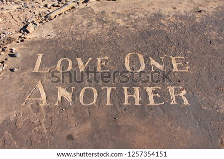 Love One Another Stock foto ©