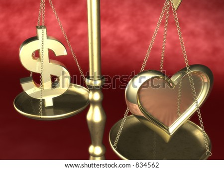 Love or Money Scale 3D
