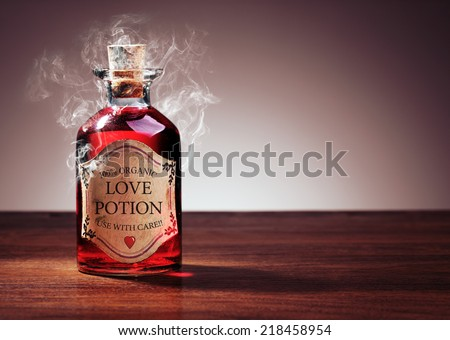 Love potion bottle, concept for dating, romance and valentine's day Stock foto ©