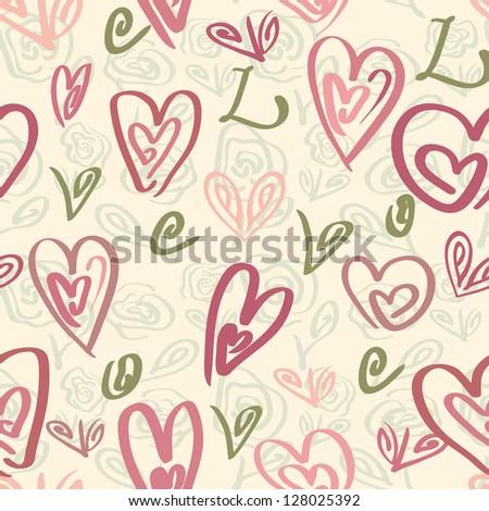 Love seamless wallpaper, valentine's design