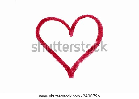 love pics to draw. stock photo : Love shape draw