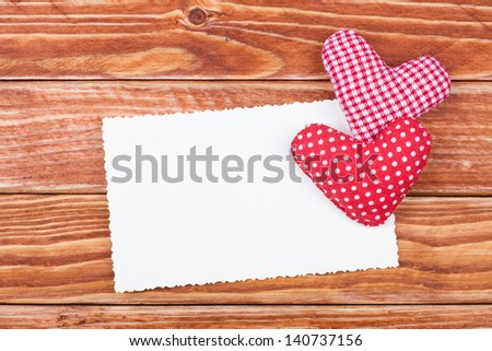 Love Valentine card with heart