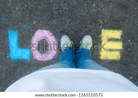 LOVE with Sidewalk Chalk