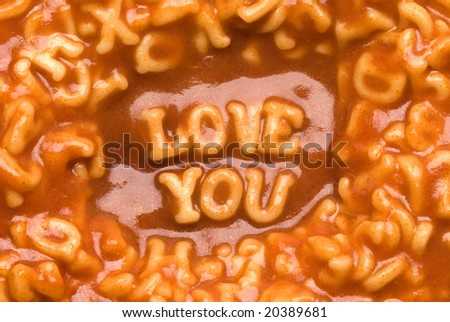 Love you - Pasta Message