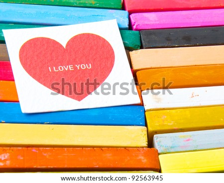 love you with colourful