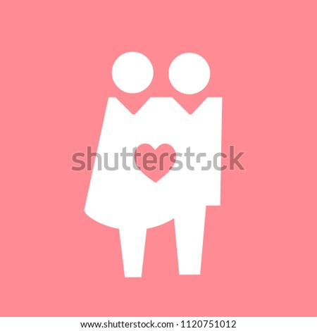 Loved up couple icon pictogram illustration #1120751012