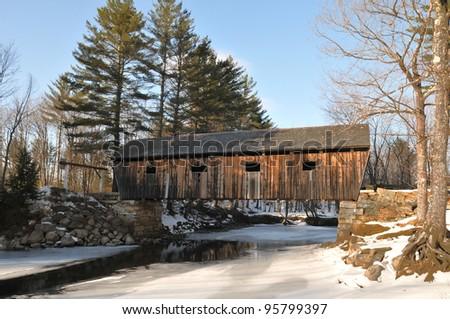 Lovejoy Bridge, a historic covered bridge in Andover, Maine