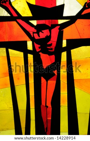 lovely abstract image depicting jesus christ on the cross