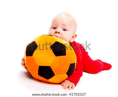 Lovely  baby with soccer ball