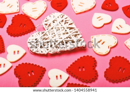 Lovely background. Texture hearts close up. Romantic message valentines day. Valentines holiday celebration. Decoration heart background. Love symbol valentines. Valentines day advertisement. #1404558941