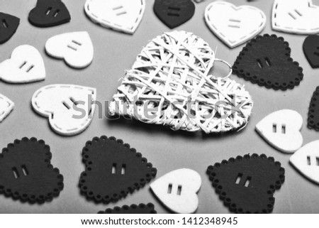 Lovely background. Texture hearts close up. Romantic message valentines day. Valentines holiday celebration. Decoration heart background. Love symbol valentines. Valentines day advertisement. #1412348945