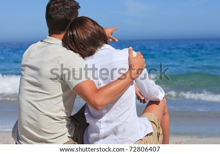 Lovely couple at the beach